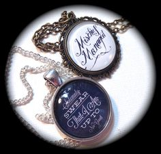 MARAUDER'S MAP . Glass Pendant Necklace Pair/Set . Harry POTTER . Friendship . GirlGameGeek on Etsy, $20.11
