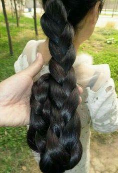 Beautiful Braids, Beautiful Long Hair, Gorgeous Hair, Braids For Long Hair, Long Hair Cuts, Long Hair Styles, Braid Hair, Curly Hair, Long Ponytail Hairstyles