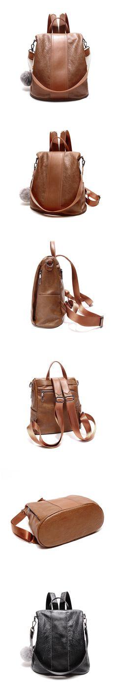 $28+Free Shipping+Black/Brown Women Backpacks #womenbackpacks,#womensfashion,#ottd,#womenbags
