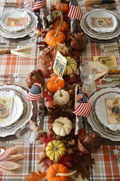 'Thankful for Veterans' Patriotic Tablescape