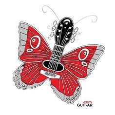 Madame Butterfly 🦋 by Juan Ponte.   #butterfly #mariposa #spring #epiphone #gibson #orvillegibson #guitar #guitarra #guitarart #guitarbyjuanponte #illustration #prints #drawing #sketch #graphicdesign #surrealguitar #fender #stratocaster #fendersofinstagram #fendercustomshop #hardrockcafe  #juanponte