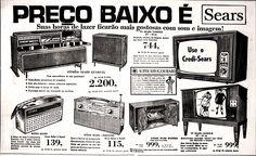 Anúncio Lojas Sears - Rio - 1970
