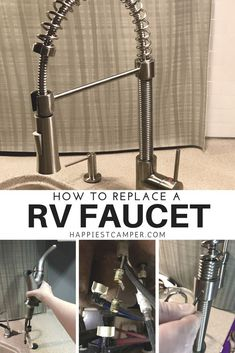 How to replace a RV Faucet. Install a new kitchen faucet in your RV. This new RV faucet made a huge difference in form and function. Love my RV faucet!
