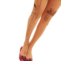 a5030aebbe6 JYS365 Sexy Tattoo Socks Transparent Tights Leggings Stockings   More info  could be found at the