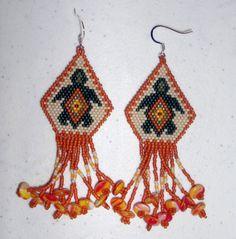 Native American Seed Bead Patterns | Native American Beaded Earrings Turtle Island | jstinson - Jewelry on ...