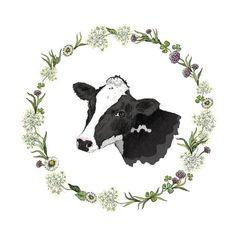 half-full-half-empty — Design element for a milk farm illustration. Et Wallpaper, Cow Tattoo, Cow Illustration, Vegan Tattoo, Ligne Claire, Cow Art, Vegan Animals, Going Vegan, Artsy