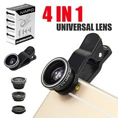 iVAPO Universal Phone Lens, 4 in 1 (Fish Eye Lens + 2 in 1 Macro Lens and Wide Angle Lens + CPL lens) Camera Lens Kit for Smart Phones (iPhone 5s, iPhone 6 4.7 inch, iPhone 6 plus 5.5 inch, Samsung Galaxy S4 S5, Note 2 3 4), Samsung Tab , iPad Air 2, iPad Mini 2 3 (Black) iVAPO http://www.amazon.com/dp/B00HFUIQ40/ref=cm_sw_r_pi_dp_CRhlvb07SJM4H