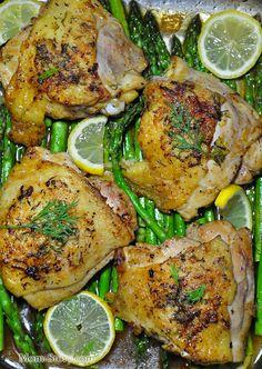лимонная курица запеченная в духовке
