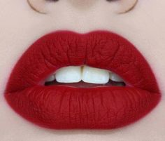 Gorgeous red matte lip. Rule of thumb: if you are over 40 stick with a matte red rather than a gloss.