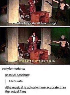 And it had a Zefron poster as a Horcrux, Voldemort tap dancing, and Umbridge dating Dumbledore because Dumbledore thought Umbridge was a man (Example of Dumbledore being gay) Pewdiepie, Markiplier, Harry Potter Jokes, Harry Potter Fandom, Smosh, Avpm, Superwholock, Amazingphil, Hogwarts