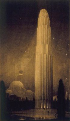 The tower rises above the people, at once their protector and their unmaker.