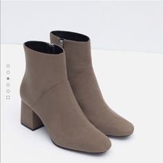 zara beige boots ✨ Classy beige zara boots very never worn brand new  Zara Shoes Ankle Boots & Booties