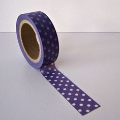 Purple and White Polka Dot Washi Tape (BumpOfKnowledge @ Etsy, $2.50)