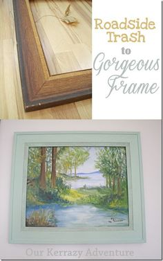 Roadside Frame Makeover using Chalk Paint