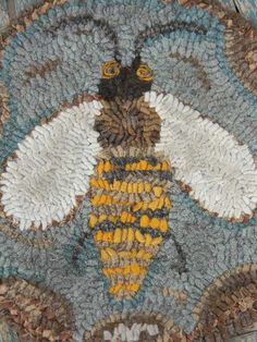 PATTERN - Honey Bee Hooked Chairpad - from Notforgotten Farm. $12.00, via Etsy.