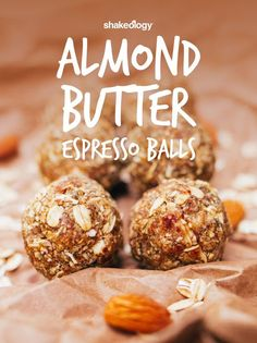 Now that Cafe Latte Shakeology is out of the bag (and in the blender..mmm)  who needs starbucks? Here is a delicious and healthy dessert! Here are  almond butter espresso balls!