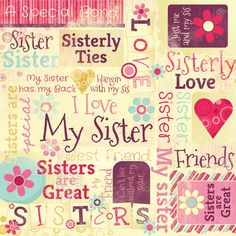 Sisters Are Special Collage