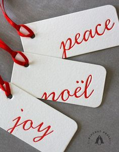 #Letterpress holiday gift #tags.
