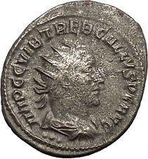 TREBONIANUS GALLUS 251AD Rare Silver Ancient Roman Coin Victory Nike i53165 https://trustedmedievalcoins.wordpress.com/2015/12/22/trebonianus-gallus-251ad-rare-silver-ancient-roman-coin-victory-nike-i53165/
