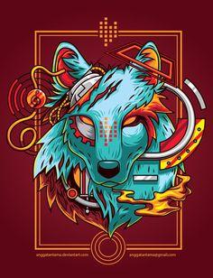 Electric wolf, Angga Tantama on ArtStation at https://www.artstation.com/artwork/electric-wolf