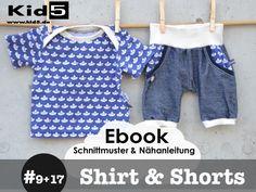 Nähanleitungen Baby - ★ ebook Set SHORTS&SHIRT 7 Größen!! - ein Designerstück von Kid5 bei DaWanda