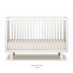 My top choice crib thus far. Also has a toddler bed conversion kit.  Love the grey and white colors.