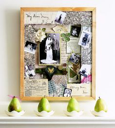 Heritage Memory Art - I did this only in a shadow box with shelves to add depth for a Father's Day gift.