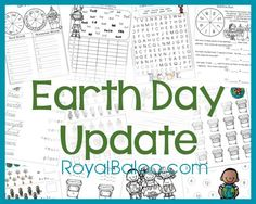 Earth Day Printable Pack - Free Printables for Kindergarten, first, second, and third grade!