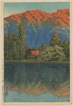 """""""Morning at  Ao Marsh, Ura Heights"""" by Hasui, Kawase"""
