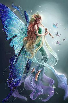 i love the fantasy/mystical creatures fairies and dragons are interesting to me Fairy Dust, Fairy Land, Fairy Tales, Fantasy Kunst, Fantasy Art, Fantasy Fairies, Fantasy Images, Real Fairies, Digital Art Fantasy