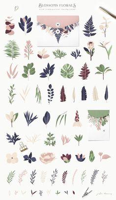 Maison de Fleurs Collection by Julia Dreams on @creativemarket
