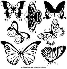 Illustration of Abstract Butterflies