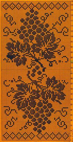 Филейное вязание. Виноград