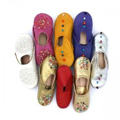 Colourful slippers.
