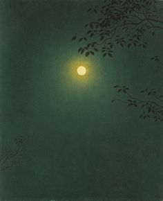 Yajuro Takashima (Japanese 1890-1975)Mangetsu,1963. Thank you, musings &colbeans.