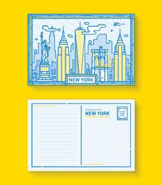 I created these postcards featuring five amazing cities of the world I've visited (Except Tokyo... I can't wait to visit that marvelous and beautiful place). I have always liked to draw buildings since I was a child, experimenting with its geometry. Li…