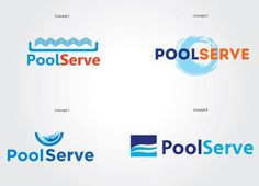 PoolServe Logo Ideas