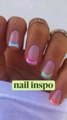 Simple Acrylic Nails, Square Acrylic Nails, Best Acrylic Nails, Acrylic Nails Designs Short, Best Nails, Acrylic Nail Designs For Summer, Cute Gel Nails, Funky Nails, Diy Gel Nails