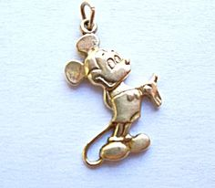 Vintage Disney Mickey Mouse 14K Yellow Gold Charm