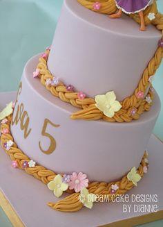 'EVA' ~ 2 TIER PRETTY RAPUNZEL THEMED CAKE Rapunzel Birthday Cake, Birthday Cakes, Dream Cake, Centre Pieces, Celebration Cakes, Themed Cakes, Celebrity Weddings, Cake Designs, Luxury Wedding