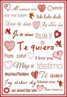 Tarjeta San Valentín para imprimir en www.mondayscrochet.wordpress.com I Love You, My Love, Open House, Bullet Journal, Etsy, Crochet, Wordpress, Frases, Beginner Crochet