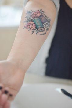 sewing tattoo thread tattoo
