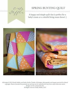 Bunting triangle quilt pattern