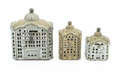 3 Vintage Cast Iron Banks