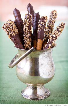 Make chocolate wands and indulge in a Harry Potter movie. #indoor #recipe