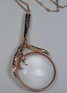 the oracle part ii rose gold vermeil magnifying glass necklace