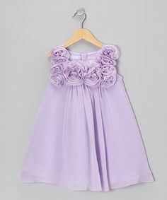 Another great find on #zulily! Lilac Rosette Dress - Girls by Sophia Young #zulilyfinds
