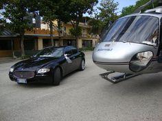Uno Splendido Elicottero ed una Magnifica Maserati!!!