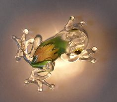 Glass Frog Hand Made Blown Tree Frog Australian Made by RayMifsud