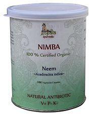 100% Organic Herbal Neem Blood Purifier Azadirachta indica 108 Vege Caps of 5...